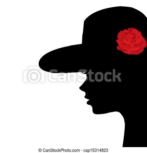 Porträt eines jungen Frauenprofils - csp15314823