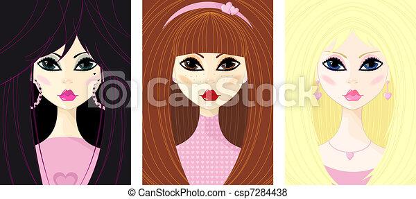 Portrait des jungen Mädchens. - csp7284438