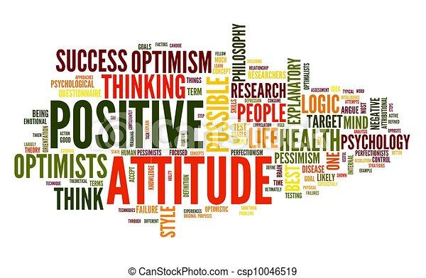 Positive Einstellung in Tag Cloud - csp10046519