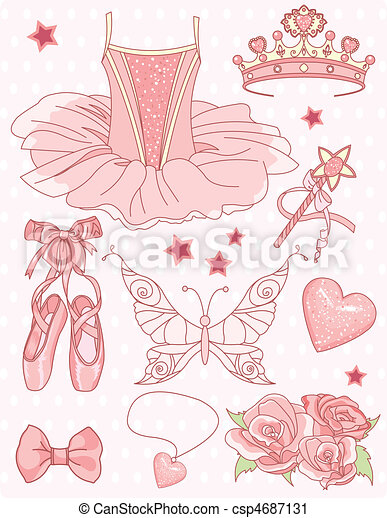 Prinzessin Ballerina bereit - csp4687131