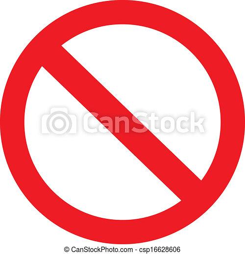 Prohibitionszeichen - csp16628606