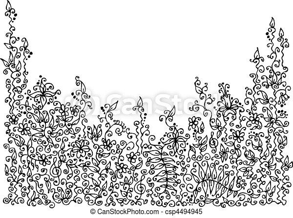 Raffinierte Blumenvignette VIII - csp4494945