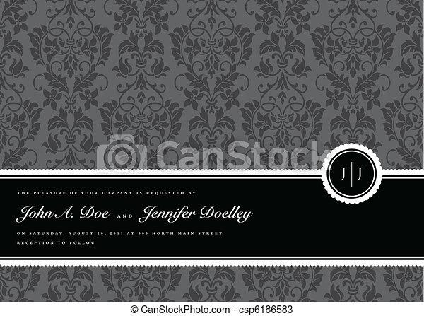 rahmen, vektor, geschenkband, hintergrund - csp6186583