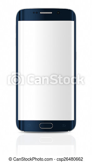 Smartphone Rand mit leerem Bildschirm - csp26480662