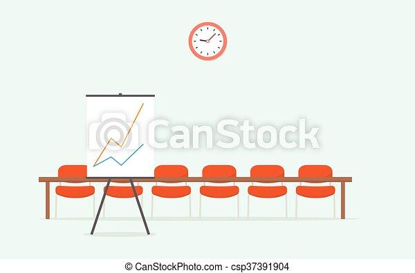 Raum für Präsentationen. Einfaches Zeichentrickbild - csp37391904