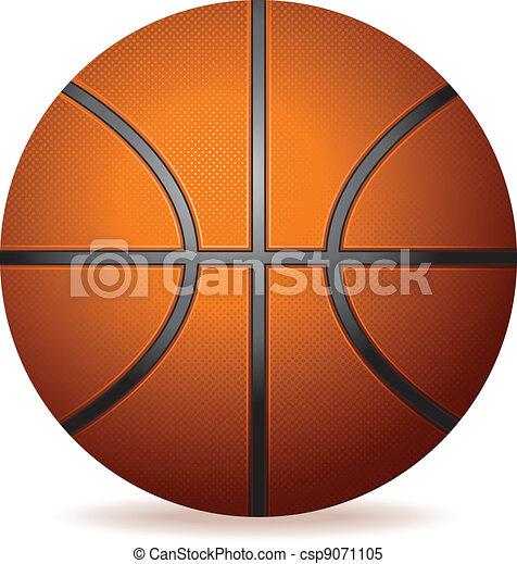 Realistischer Basketball - csp9071105