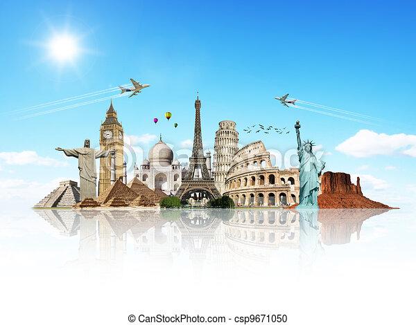 Reisen Sie das Weltdenkmalkonzept - csp9671050