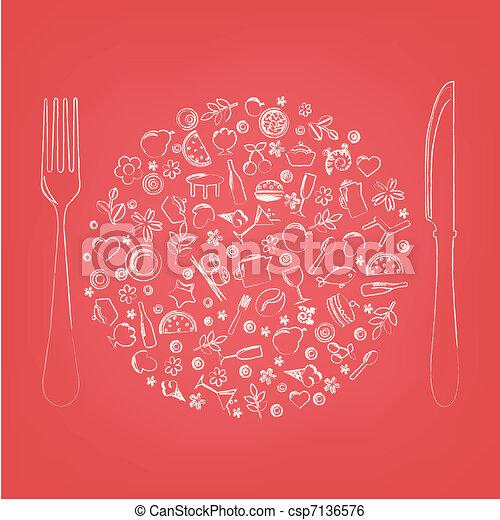 Restaurant-Ikonen in Form von Sphäre - csp7136576