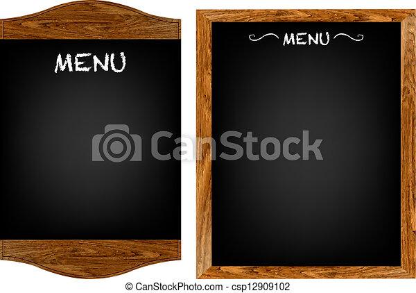 Restaurant-Menü-Vorstand mit Text - csp12909102