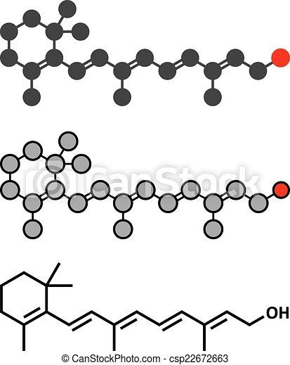 Retinol (Vitamin A) Molekül. - csp22672663