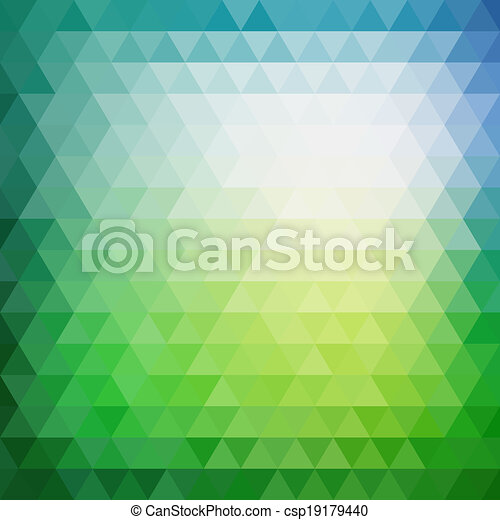 Retro mosaische Muster geometrischer Dreieckformen. - csp19179440
