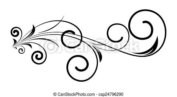 Retro-Swirl-Ferienkunst-Design. - csp24796290
