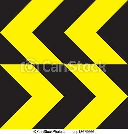 richtung, gelbes zeichen, bidirektional, änderung, extrem - csp13679666