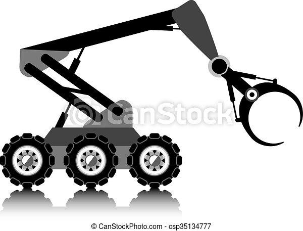 Roboterarm. - csp35134777