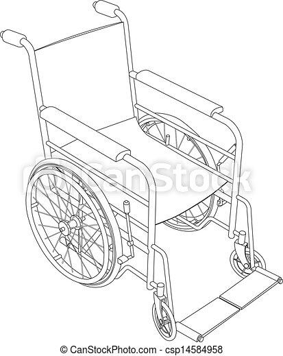 Rollstuhl-Overline-Vektor - csp14584958
