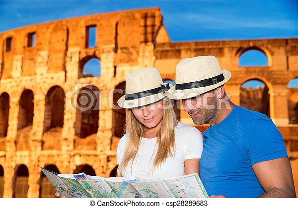 Romantische Ferien in Rom. - csp28289683