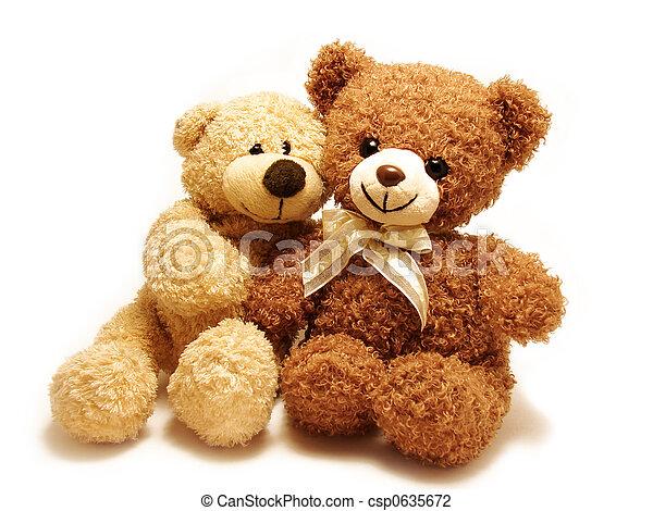 Romantische Teddybären - csp0635672