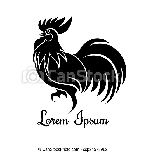 Rooster-Logo - csp24573962