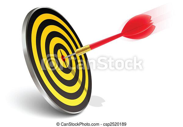 Roter Pfeil trifft das Ziel - csp2520189