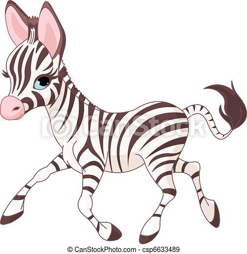 Süß, Baby Zebra zu laufen - csp6633489