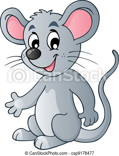 Süße Cartoon-Maus - csp9178477