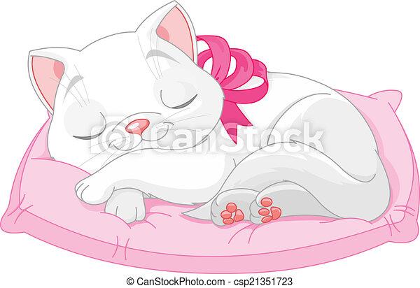 Süße weiße Katze. - csp21351723