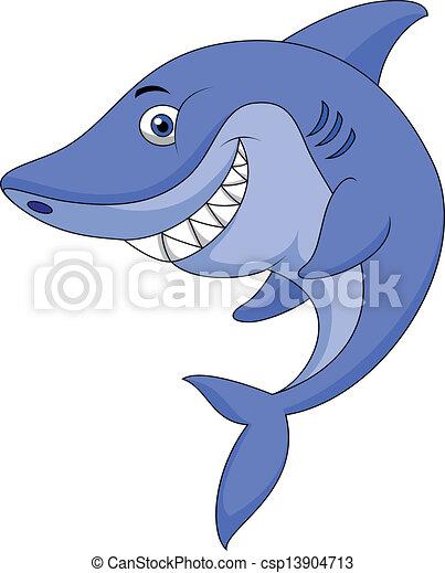 Süßer Hai-Zeichentrickfilm - csp13904713