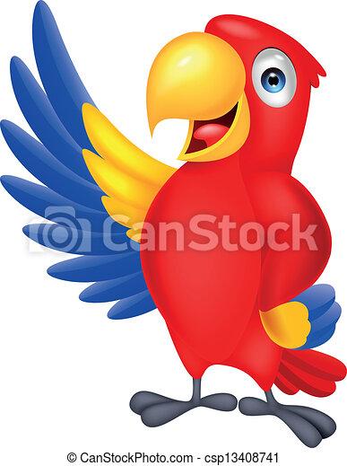 Süßer makawischer Vogel winkt - csp13408741