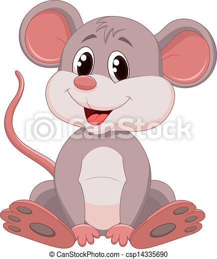Süßer Maus-Cartoon - csp14335690