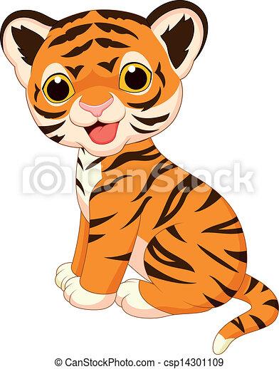 Süßer Tiger-Zeichentrick - csp14301109