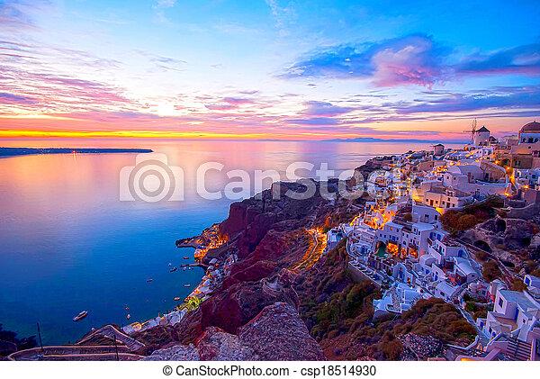 Santorini Greece. - csp18514930