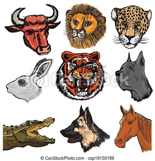 Ein paar Tiere - csp19150189