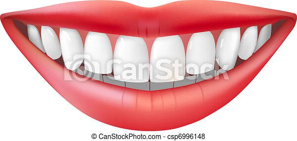 Schönes Lächeln - csp6996148