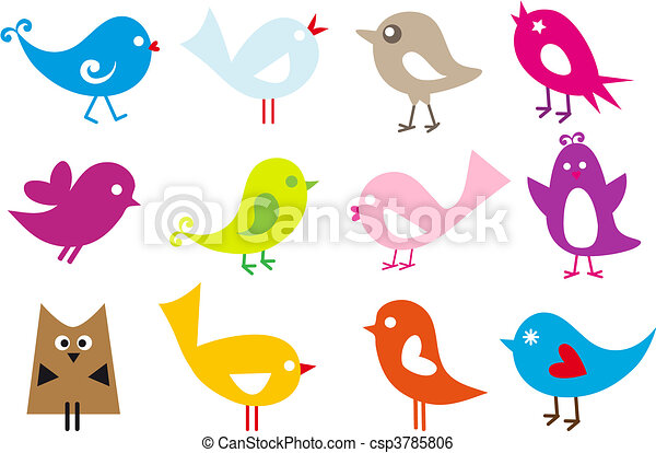 Schöne Vögel - csp3785806
