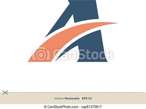 schablone, brief, design, logo, swoosh, abbildung - csp81375817