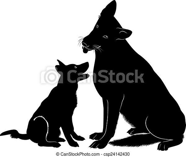 schafhirte, hund - csp24142430