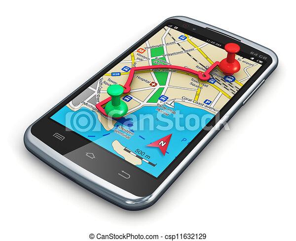 GPS Navigation im Smartphone - csp11632129