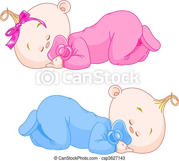 Schlafende Babys - csp3627143