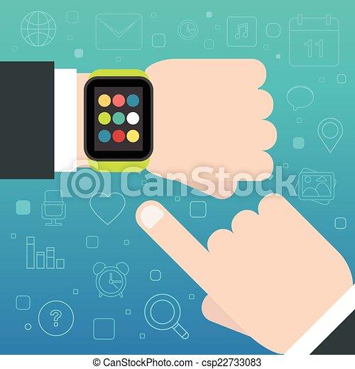 Schlaues Uhrenkonzept - csp22733083