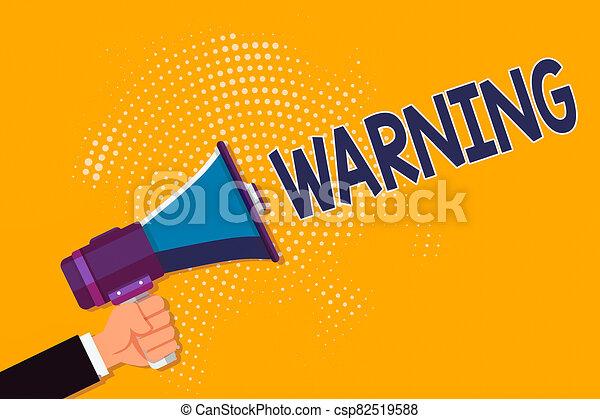 schreibende, foto, zeigt, bevorstehend, möglich, mann, analyse, oder, halftone, hand, geschaeftswelt, begrifflich, gefahr, megaphon, ereignis, text, besitz, ausstellung, warning., aussage, hu, pattern. - csp82519588