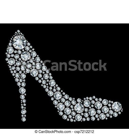Schuhe formten eine Menge Diamon. - csp7212212
