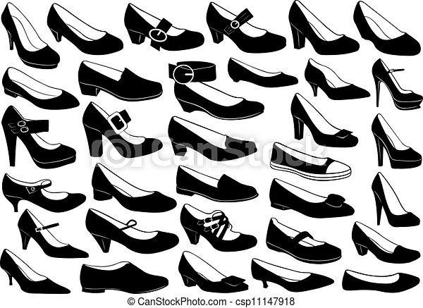 Schuhe illustrieren - csp11147918