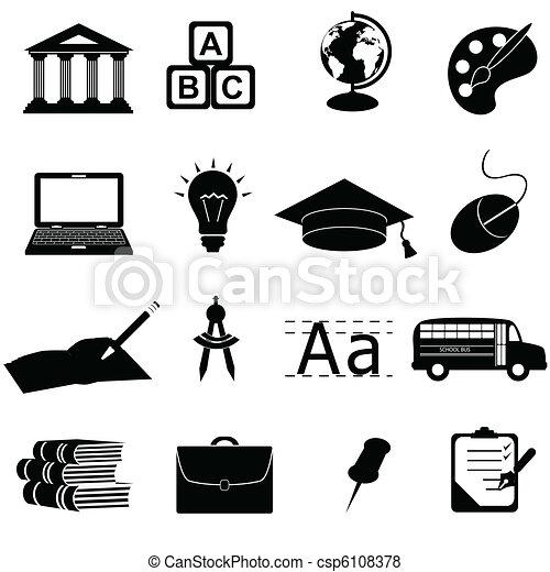 Schul- und Bildungs-Ikonen - csp6108378