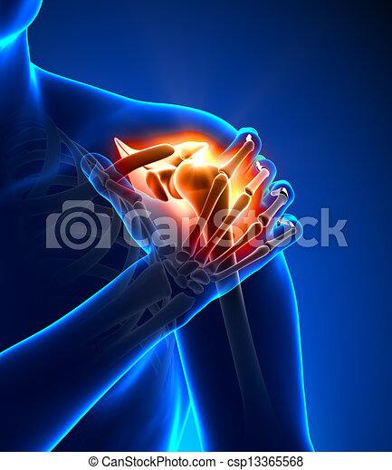 Schulterschmerzen - verletztes Trauma - csp13365568