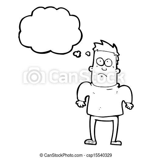 schultern, mann, shruggin, karikatur - csp15540329