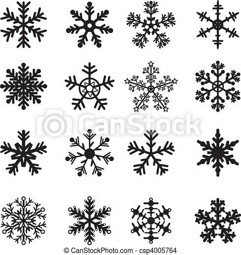 Schwarz-Weiß-Schneeflossen-Set - csp4005764