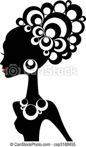 Schwarze Frau, Vektor - csp3188455