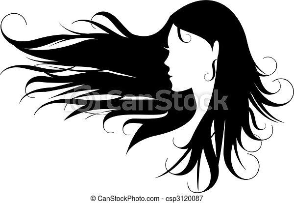 Schwarze Haare - csp3120087