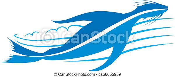 Seal Design, spritze durch Wate - csp6655959