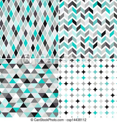 Seamless geometrisches Muster - csp14438112